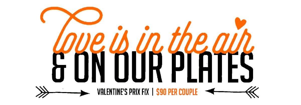 Valentine's Prix Fix Menu
